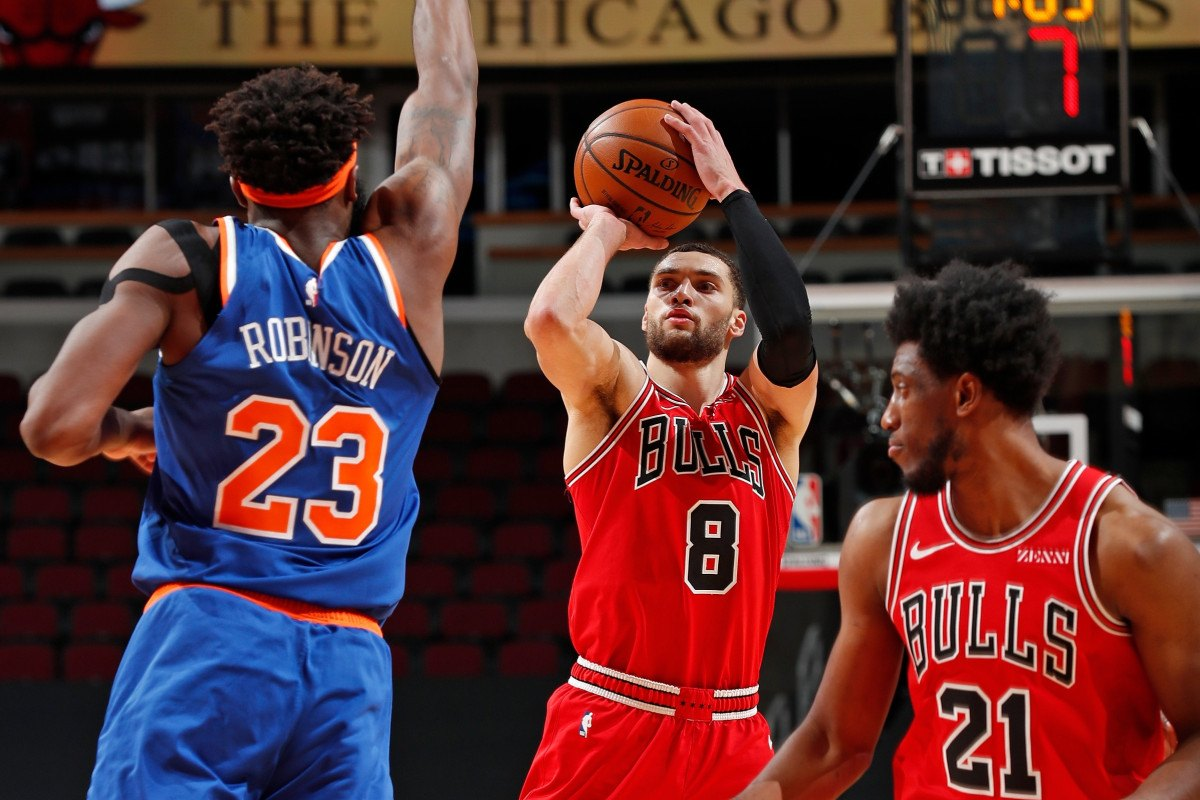 Zach LaVine New York Knicks Chicago Bulls NBA Trade Rumor