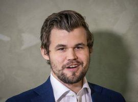 """Magnus Carlsen survived a """"thoroughly disgusting performance"""" to beat Daniil Dubov and advance to the semifinals of the Opera Euro Rapid. (Image: Heiko Junge/NTB)"""