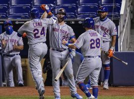 Bettors are heavily backing the New York Mets to win the World Series at BetMGM, where the team is fetching +1200 odds. (Image: Mark Brown/Getty)
