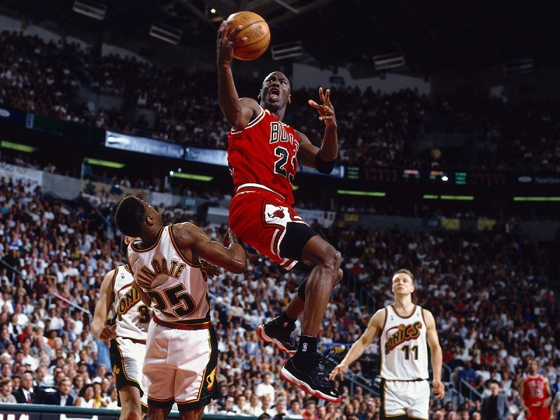 Michael Jordan Chicago Bulls NBA scoring champion