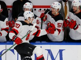 The NHL has cancelled the next three New Jersey Devils games, as the team has 10 players currently in the COVID-19 protocol. (Image: Jeffrey T. Barnes/AP)