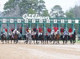 Oaklawn Park scrubbed its Presidents' Weekend card due to expected ice storms this weekend. The Arkansas track rescheduled five stakes races -- three graded stakes -- to the following weekend. (Image: Oaklawn Park)