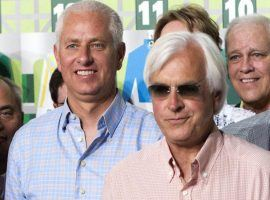 Between them, Todd Pletcher (left) and Bob Baffert own eight Kentucky Derby victories. Pletcher (45) and Baffert (23) have the most Triple Crown early nominated horses for 2021. (Image: Doug Engle/AP File)