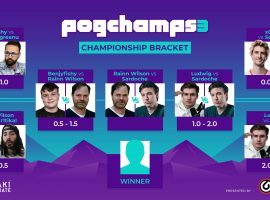 Rainn Wilson will battle Sardoche for Twitch chess supremacy when they meet in the PogChamps 3 finals on Sunday. (Image: Chess.com)