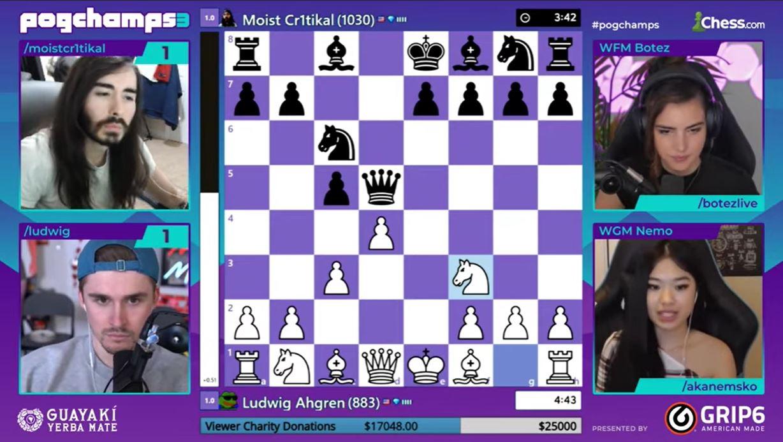 PogChamps 3 brackets Twitch chess