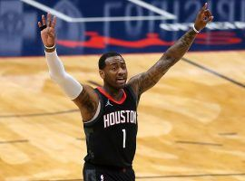 John Wall, guard on the Houston Rockets, celebrated a victory against the New Orleans Pelicans during the team's six-game winning streak. (Image: Jonathan Bachman/Getty)