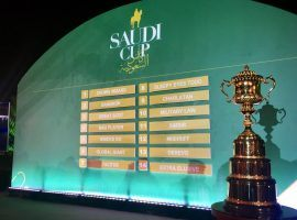 The post positions are set for Saturday's Saudi Cup. The five American horses drew posts ranging from 4 to 9. (Image: Saudi Cup Twitter/@thesaudicup)