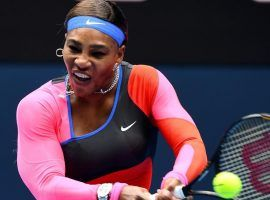 Serena Williams coasted to victory over Laura Siegemund, posting a 6-1, 6-1 win in her first-round match at the 2021 Australian Open. (Image: AFP)