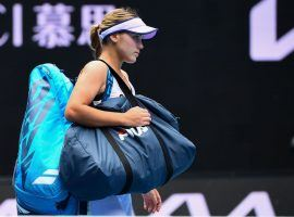 Defending Australian Open champion Sofia Kenin lost to Kaia Kanepi in their second-round match on Thursday. (Image: William West/AFP/Getty)