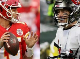 Patrick Mahomes (left) and Tom Brady (right) will face off in Super Bowl 55, a game that could help shape each of their legacies. (Images: Jamie Squire, Stacy Revere/Getty/AFP/France24.com)