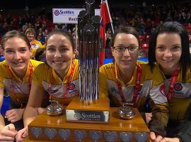 Team Einarson will attempt to defend its title at the 2021 Scotties Tournament of Hearts, beginning on Friday, Feb. 19. (Image: TSN)