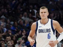 Kristaps Porzingis of the Dallas Mavericks has been the subject of the latest batch of NBA trade rumors that include the Mavs shopping the Unicorn to the highest bidder. (Image: Porter Lambert/Getty)