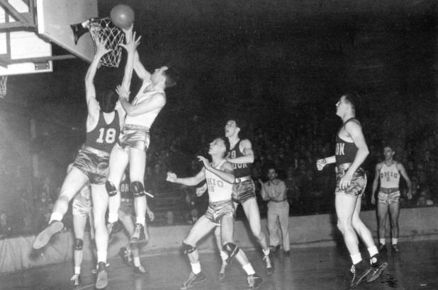 Oregon Ohio State 1939 first college basketball tournament championship game