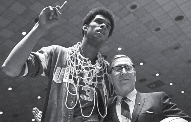 Kareem Abdul-Jabbar John Wooden UCLA 1967 March Madness winners