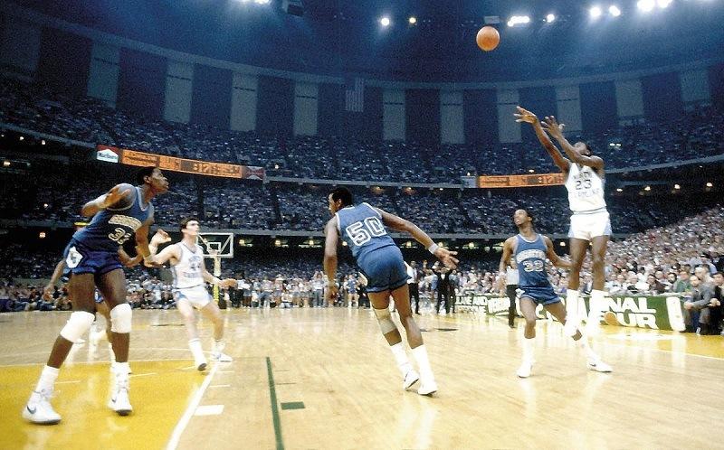North Carolina UNC Georgetown 1982 Championship Game Michael Jordan