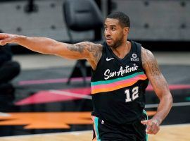 Center LaMarcus Aldridge played his last game with the San Antonio Spurs, who are looking to find a new home for him before the trade deadline. (Image: Eric Gay/AP)