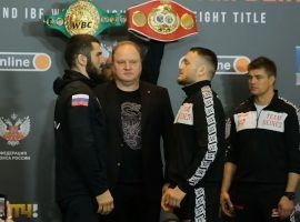 Light heavyweight champion Artur Beterbiev defends his titles against underdog Adam Deines on Saturday in Moscow. (Image: Top Rank Boxing/YouTube)