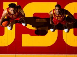 The Mobley brothers, Isaiah (3) and Evan (4), led the USC Trojans to a berth in the Sweet 16 as one of four PAC-12 teams remaining in March Madness. (Image: NYT)