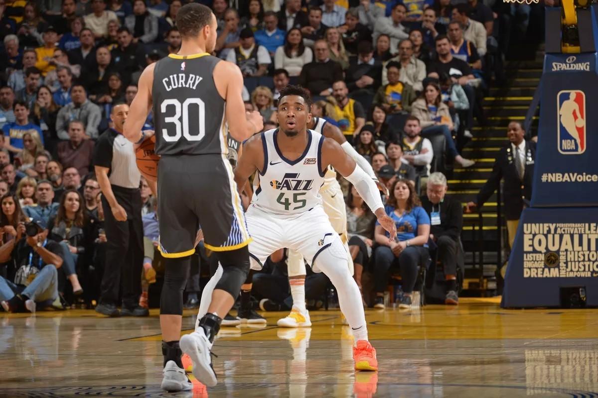 Steph CUrry Donovan Mitchell GOlden State Warriors Utah Jazz Denver Nuggets Dallas Mavericks Nugs Mavs