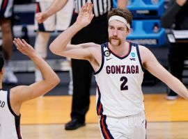 Drew Timme of Gonzaga jogs down court during a second-round matchup against Oklahoma in the 2021 March Madness tournament. (Image: Getty)