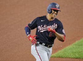 Juan Soto leads a crowded field in the race for the 2021 NL MVP award. (Image: Jonathan Newton/Washington Post)