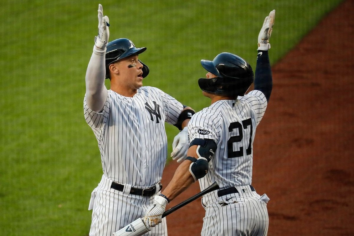 New York NY Pratinjau Pembom Bronx Yankees Aaron Judge Giancarlo Stanton