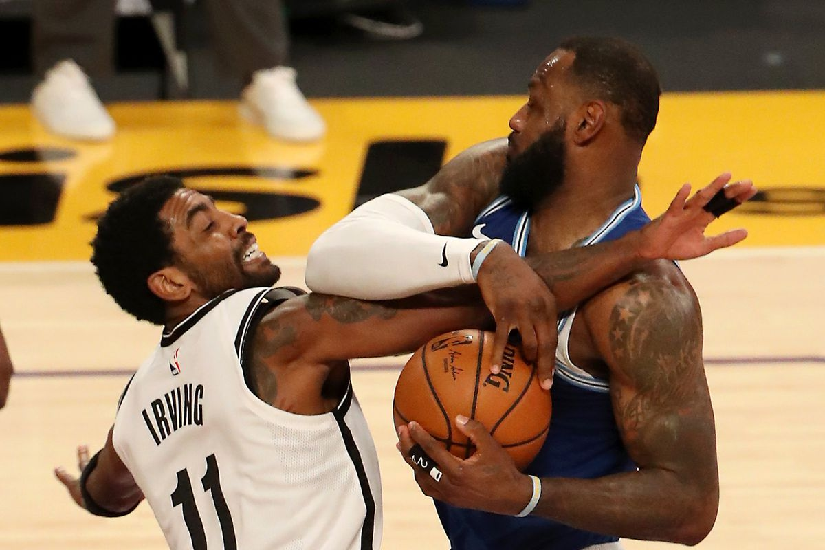 LeBron James Kyrie Irvinf NBA Championship Odds Futures Brooklyn Nets LA Lakers Clippers Bucks odds