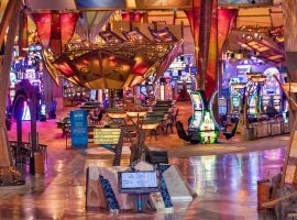 Connecticut and the Mohegan Tribe, which operates the Mohegan Sun Casino (pictured), have agreed to a deal that would allow for regulated sports betting in the state. (Image: Mary Altaffer/AP)