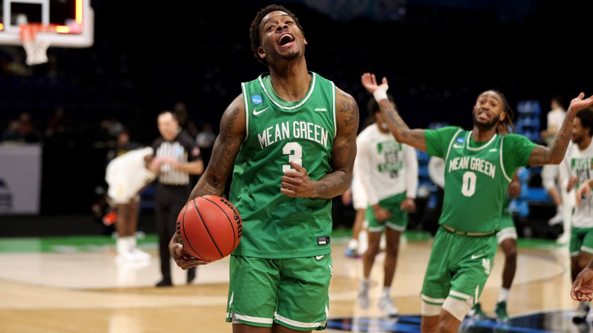 North Texas Javion Hamlet Mean Green upset March Madness Day 1