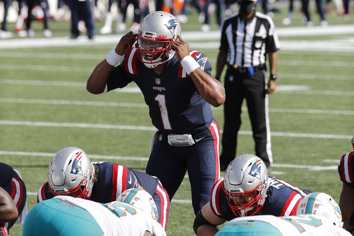 Cam Newton New England Patriots QB quarterback signs