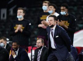 Iona head coach Rick Pitino on the sidelines during the MAAC tournament at Boardwalk Hall in Atlantic City, New Jersey. (Image: AP)