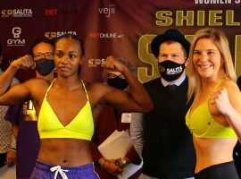 Claressa Shields (left) and Marie-Eve Dicaire (right) will battle for the undisputed women's junior middleweight title on pay-per-view this Friday night. (Image: Silvia Jones/ILE Photography)