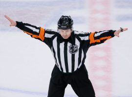 The NHL says Tim Peel will never referee for the league again after his hot mic comments during a Tuesday night game. (Image: Isaiah J. Downing/USA Today Sports)