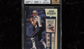 This card sold for $1.3 million this week, setting a new record for a football card. (Image: PWCC)