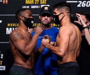 Woodley Luque odds UFC 260