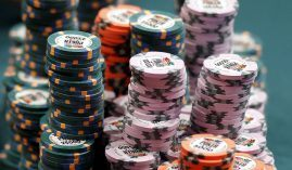 The World Series of Poker plans to hold its live events in both Las Vegas and Europe later this year. (Image: Isaac Brekken/AP)
