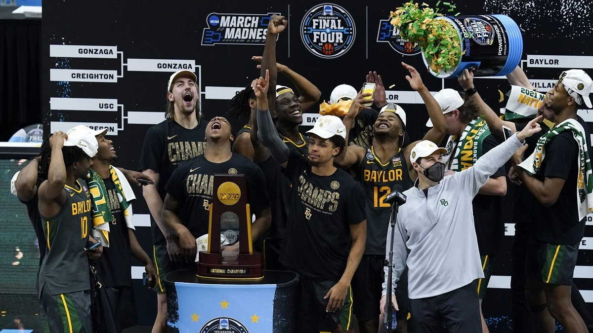 Baylor Wins March Madness CHampionship Blows Out Gonzaga Bears