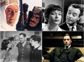 Best Picture winners at the Oscars (clockwise): Lawrence of Arabia, The Apartment, The Godfather Part II, The Best Years of our Lives. (Image: Variety)