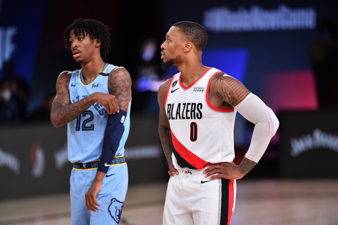 Ja Morant Damian Lillard Blazers Grizzlies Knicks Wizards NBA