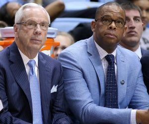 North Carolina UNC Hubert Davis head coach Roy Williams