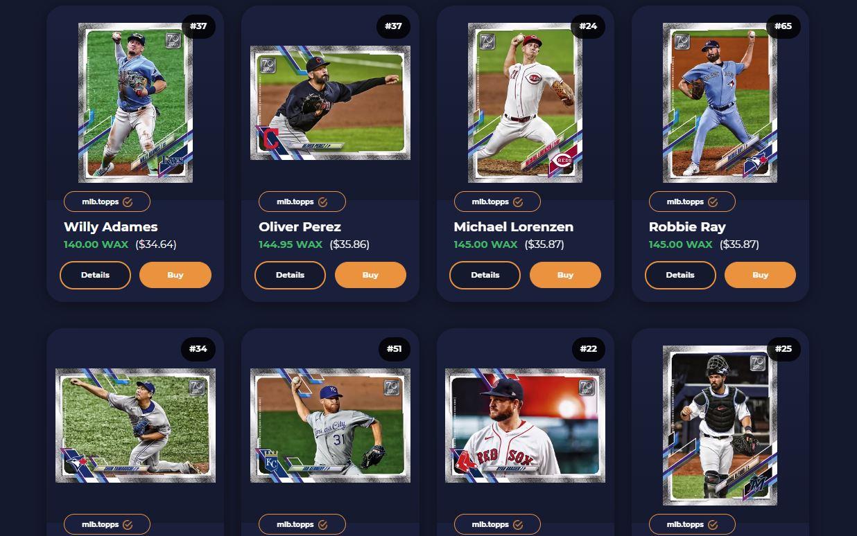 Topps MLB NFT investment