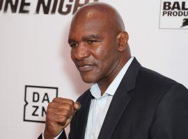 Evander Holyfield (pictured) will return to the ring for an exhibition fight against Kevin McBride on June 5. (Image: Getty)