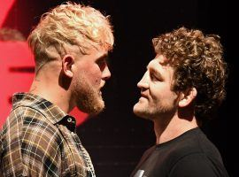 YouTuber Jake Paul (left) will battle former MMA fighter Ben Askren (right) in an eight-round boxing match on Saturday night. (Image: Ethan Miller/Getty)