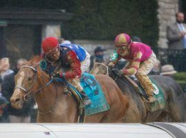 King Fury's gritty victory in the Lexington Stakes led trainer Kenny McPeek to keep him in the Triple Crown mix. Friday, his patience was rewarded iwtha   berth in the Kentucky Derby. (Image: Jonathan Palmer/Keeneland)