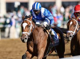 Undefeated Malathaat and John Velazquez go for their fifth consecutive victory as the 5/2 favorite in Friday's Grade 1 Kentucky Oaks at Churchill Downs. (Image: Keeneland Photo)