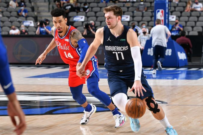 The NBA play-in tournament will force four teams from each conference to compete for the final two seeds in the playoffs. (Image: Glenn James/NBAE/Getty)