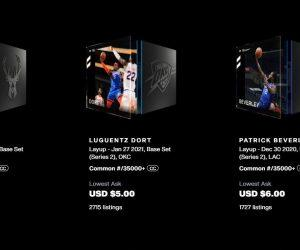 NBA Top Shot prices