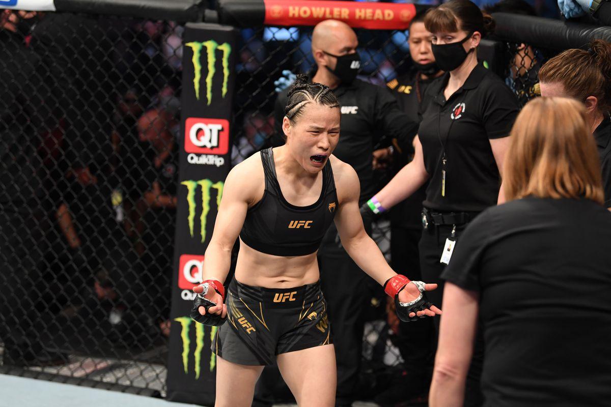 UFC 261 Namajunas Weili