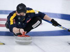 Niklas Edin comes into the Champions Cup as the favorite on the men's side after his team won the World Men's Curling Championship last weekend. (Image: Jeff McIntosh/Canadian Press)