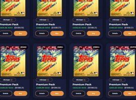 Topps MLB NFT prices have spiked, with unsealed packs going for 10 times or more their original prices. (Image: AtomicHub.io)